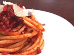Culinary Art in Rome: Bucatini all'amatriciana