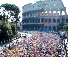 An image from the Marathon of Rome