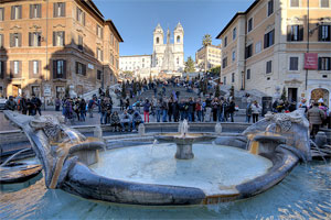 Fountains of Rome: Barcaccia fountain