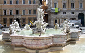 Fountains of Rome: Moro's fountain